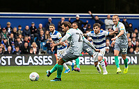 Blackburn Rovers' Bradley Dack scores their first goal from the penalty spot<br /> <br /> Photographer Andrew Kearns/CameraSport<br /> <br /> The EFL Sky Bet Championship - Queens Park Rangers v Blackburn Rovers - Saturday 5th October 2019 - Loftus Road - London<br /> <br /> World Copyright © 2019 CameraSport. All rights reserved. 43 Linden Ave. Countesthorpe. Leicester. England. LE8 5PG - Tel: +44 (0) 116 277 4147 - admin@camerasport.com - www.camerasport.com