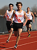 Gregory Matzelle, a Carey senior, races to victory in the boys 200 meter dash during the Cougar Invitational held at Bellmore JFK High School on Saturday, Apr. 16, 2016. He finished with a time of 21.8.