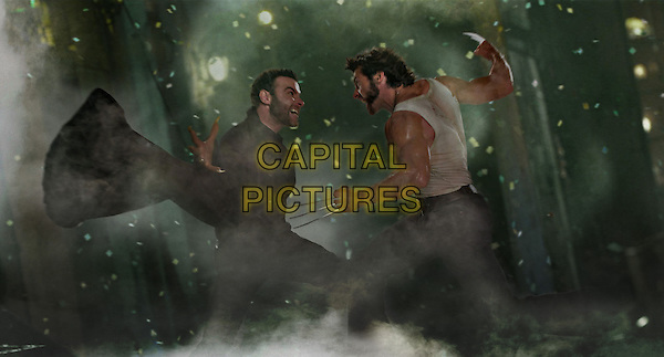 Hugh Jackman & Liev Schreiber.in X-Men Origins: Wolverine.*Filmstill - Editorial Use Only*.CAP/PLF.Supplied by Capital Pictures.