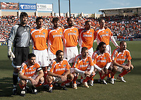 Houston Dynamo starting XI.  The Houston Dynamo win the MLS Cup 2006 over the New England Revolution 4-3 on penalty kicks after playing to a 1-1 tie during regulation and extra time at Pizza Hut Park in Frisco, TX on November 12, 2006.