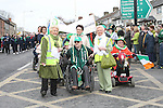 Isabelle San Roma and Marie Dunne with Grand Marshall Oliver Murphy at the 2010 St Patrick's Day Parade...Photo NEWSFILE/Jenny Matthews.(Photo credit should read Jenny Matthews/NEWSFILE)....This Picture has been sent you under the condtions enclosed by:.Newsfile Ltd..The Studio,.Millmount Abbey,.Drogheda,.Co Meath..Ireland..Tel: +353(0)41-9871240.Fax: +353(0)41-9871260.GSM: +353(0)86-2500958.email: pictures@newsfile.ie.www.newsfile.ie.FTP: 193.120.102.198.
