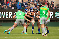 Bath Rugby's Luke Charteris in action during todays match<br /> <br /> Photographer Bob Bradford/CameraSport<br /> <br /> Premiership Rugby Cup Round 1 - Bath Rugby v Harlequins - Saturday 27th October 2018 - The Recreation Ground - Bath<br /> <br /> World Copyright © 2018 CameraSport. All rights reserved. 43 Linden Ave. Countesthorpe. Leicester. England. LE8 5PG - Tel: +44 (0) 116 277 4147 - admin@camerasport.com - www.camerasport.com