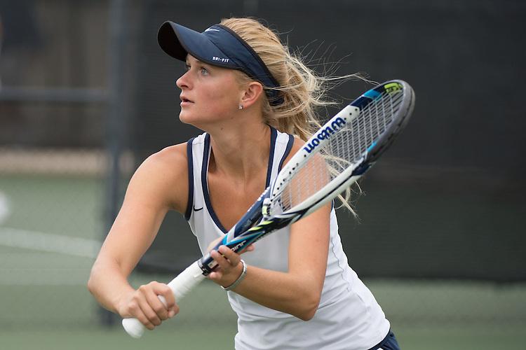 April 22, 2015; San Diego, CA, USA; San Diego Toreros tennis player Mikayla Morkel-Brink during the WCC Tennis Championships at Barnes Tennis Center.