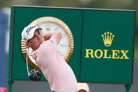Justin Thomas (USA) tees off the 18th hole during the first round of the 118th U.S. Open Championship at Shinnecock Hills Golf Club in Southampton, NY, USA. 14th June 2018.<br /> Picture: Golffile | Brian Spurlock<br /> <br /> <br /> All photo usage must carry mandatory copyright credit (&copy; Golffile | Brian Spurlock)