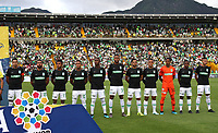 BOGOTÁ - COLOMBIA, 10-08-2019:Formación del Atlético Nacional ante  Equidad durante partido por la fecha 5 de la Liga Águila II 2019 jugado en el estadio Nemesio Camacho El Campín  de la ciudad de Bogotá. / Team of Atletico Nacional agaisnt of Equidad   during the match for the date 5th of the Liga Aguila II 2019 played at Nemesio Camacho El Campin  stadium in Bogota city. Photo: VizzorImage / Felipe Caicedo / Staff.