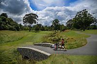 Emilie Ricaud walks to the 8th green. 2018 Annika Australiasia Invitational Junior-Am at Royal Wellington Golf Club in Upper Hutt, Wellington, New Zealand on Friday, 14 December 2018. Photo: Dave Lintott / lintottphoto.co.nz