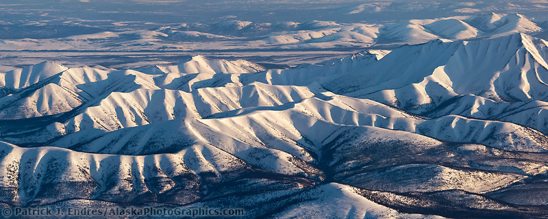Snow covered Alatna hills region, north of the Yukon River, Interior, Alaska.