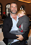 Liev Schreiber with son Alexander attending the Unveiling of the Revitalized Public Theater at Astor Place in New York City on 10/4/2012.