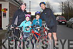 FAMILY: Familys that took part in the late Jimmy Duffy,Blennerville Memorial Cycle, on Saturday morning, l-r: Pat and Grace O'Brien and Kieran and Darragh O'Connor.