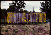 Side view of old refrigerator car.<br /> D&amp;RGW