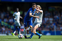 Chelsea's Cesc Fabregas holds off the challenge from Everton's Tom Davies      <br /> <br /> <br /> Photographer Craig Mercer/CameraSport<br /> <br /> The Premier League - Chelsea v Everton - Sunday 27th August 2017 - Stamford Bridge - London<br /> <br /> World Copyright &copy; 2017 CameraSport. All rights reserved. 43 Linden Ave. Countesthorpe. Leicester. England. LE8 5PG - Tel: +44 (0) 116 277 4147 - admin@camerasport.com - www.camerasport.com