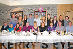 21st Birthday : Hazel Lynch, Listowel celebrating her 21st birthday with family at Behan,s Restaurant at the Horseshoe Bar, Listowel on Friday nigh last. Front : Tom & Mary Anne Joy, Sinead Joy, Michael , Hazel & Breda Lynch, Kitty & Mike Kelly & Michael Lynch. Back : Pat O'Connell, Madleine & Rachel Collins, Mike Kelly, David Lynch, Sarah Lynch, Stephanie Collins, Aine O'Connell, Lulu & Padraig O'Connell.