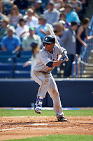 Detroit Tigers outfielder Anthony Gose (12) at bat during a Spring Training game against the New York Yankees on March 2, 2016 at George M. Steinbrenner Field in Tampa, Florida.  New York defeated Detroit 10-9.  (Mike Janes/Four Seam Images)