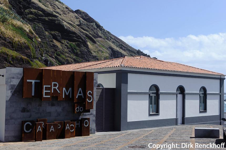 Badehaus in Carapacho auf der Insel Graciosa, Azoren, Portugal