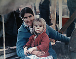 Woman and child at a county fair near Huntsville, AL in November,1965. Photo by Jim Peppler. Copyright Jim Peppler/1965