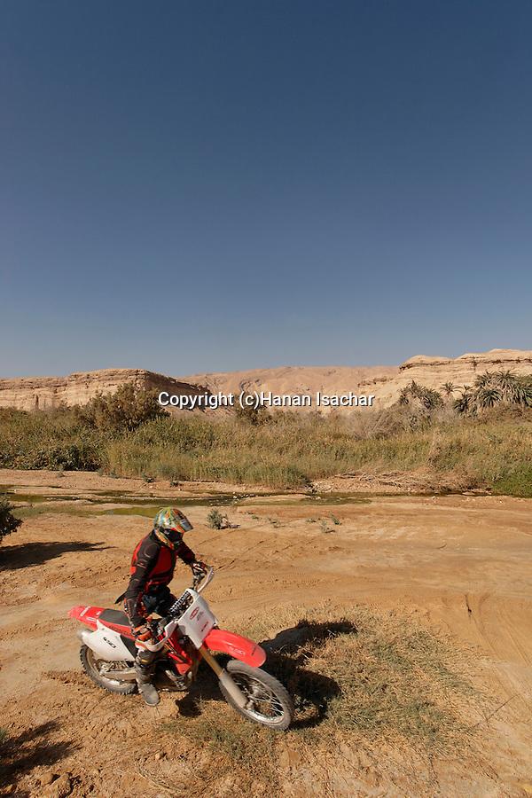 Israel, the Negev desert. Riding in Ein Zin