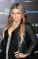 CARMEN ELECTRA .At SWAGG VIP Kid Rock Concert at the Joint inside the Hard Rock Hotel and Casino, Las Vegas, Nevada, USA,.7th January 2010..half length black leather jacket  necklace  pearls beads hand on hip eyeliner make-up eye contact .CAP/ADM/MJT.© MJT/AdMedia/Capital Pictures.