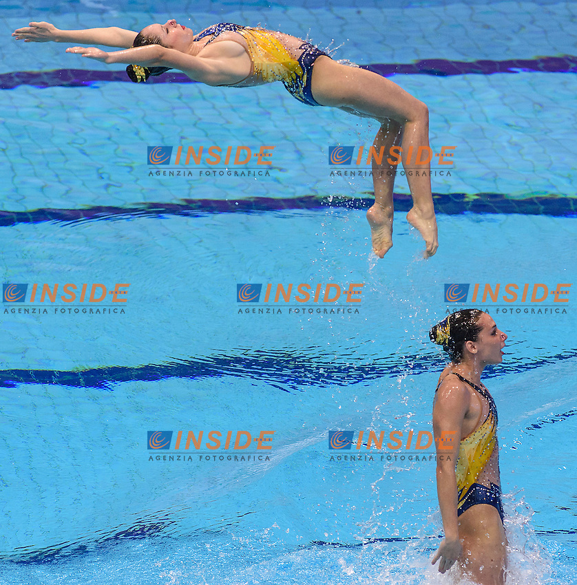 FRANCE FRA <br /> ANNEQUIN Marie BETEILLE Morgane DAVVETAS Iphinoe  <br /> HUBAUD Estel Anais PONTAT Lauriane SLONINA Abbygaelle LUSSEAU Solene DUCROCQ Esther  <br /> Team Free Preliminary  <br /> London, Queen Elizabeth II Olympic Park Pool <br /> LEN 2016 European Aquatics Elite Championships <br /> Synchronized Swimming <br /> Day 03 10-05-2016<br /> Photo Andrea Staccioli/Deepbluemedia/Insidefoto