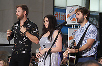 NEW YORK, NY - JULY 6:  Charles Kelley, Hillary Scott, Dave Haywood, of  Lady Antebellum perform at Citi Concert Series on NBC's Today Show  at Rockefeller Center in New York City on July 06, 2018. <br /> CAP/MPI/RW<br /> &copy;RW/MPI/Capital Pictures