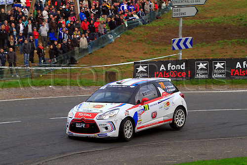 05.10.2014. Alsace Region, France. WRC Rally of France.  RALLYES JEUNES FFSA<br /> YOHAN ROSSEL BENOIT FULCRANDCITROEN DS3