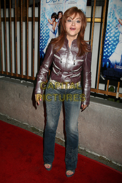 "JUDY TENUTA.""Dreamgirls"" DVD Release Party at Arena Nightclub, Hollywood, California, USA..April 26th, 2007.full length jeans denim purple leather jacket funny face .CAP/ADM/BP.©Byron Purvis/AdMedia/Capital Pictures"