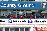 Players on the balcony with one minute of applause in memory of former Essex player Brian Taylor during Essex Eagles vs Nottinghamshire, Royal London One-Day Cup Semi-Final Cricket at The Cloudfm County Ground on 16th June 2017
