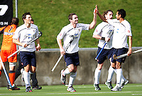 debaa6283ec Auckland s Phil Burrows celebrates scoring early in the first half. Auckland  v Midlands men s semifinal