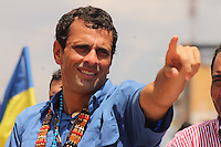 Venezuelan oposition leader Hernan Capriles Radonski during the closing campaign rally in Barqusimeto, Lara state. Capriles will face President Hugo Chavez, who will try to get his fourth term in office