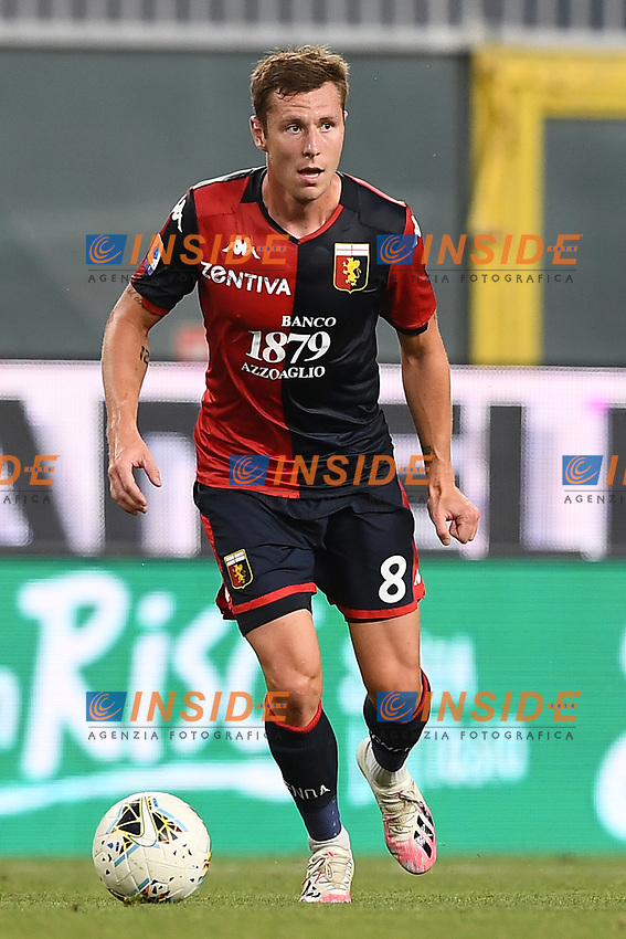 Lukas Lerager of Genoa during the Serie A football match between Genoa CFC and SSC Napoli stadio Marassi in Genova ( Italy ), July 08th, 2020. Play resumes behind closed doors following the outbreak of the coronavirus disease. <br /> Photo Matteo Gribaudi / Image / Insidefoto