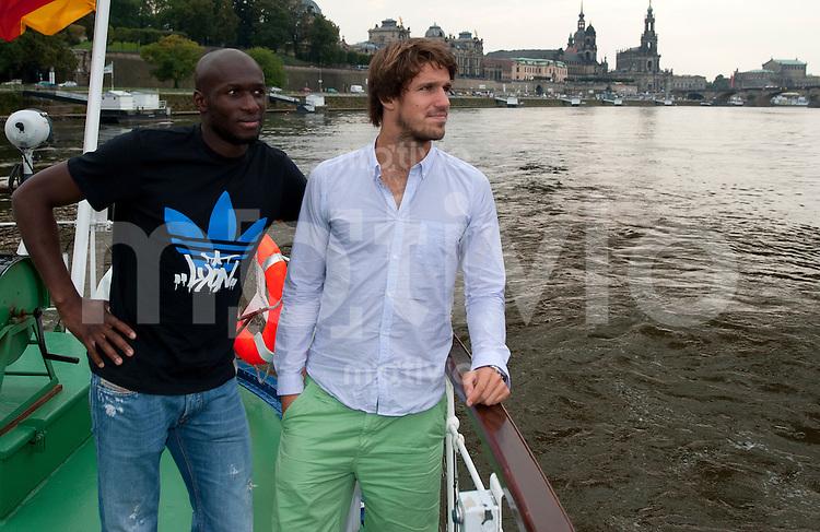 Dampferfahrt mit der SG Dynamo Dresden, Dienstag (27.09.11) Mickael Pote (li.) und Romain Bregerie.