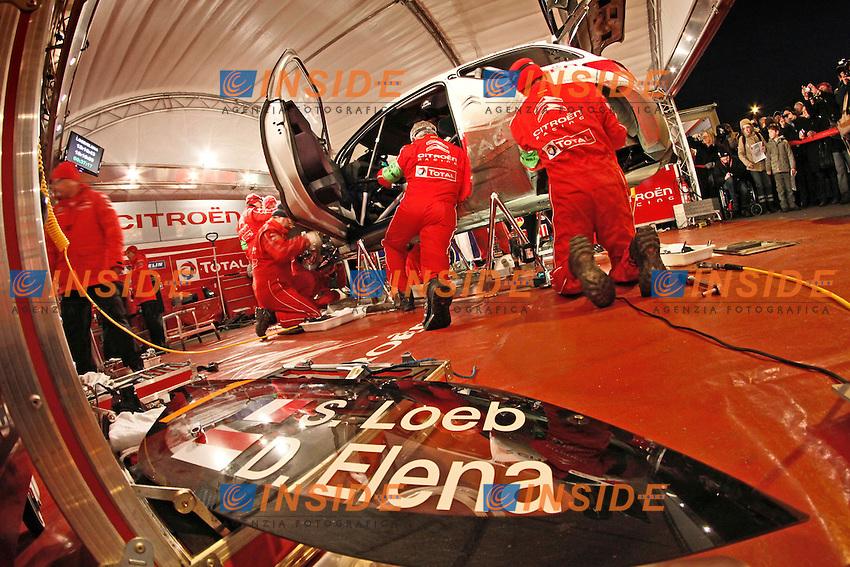 SEBASTIEN LOEB CITROEN DS3 WRC AMBIANCE.Montecarlo 18/1/2012 .Rally di Montecarlo.Foto Insidefoto / Lavadinho S Presse / Panoramic