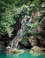 Jamaika, Portland, Flossfahrt zu Somerset Falls | Jamaica, Portland, rafting at Somerset Falls