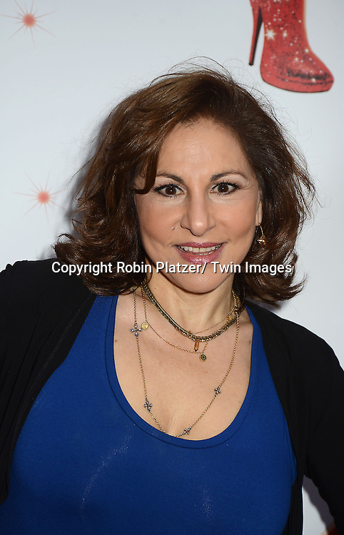 "Kathy Najimy arrives at the ""Kinky Boots"" Broadway Opening on April 4, 2013 at The Al Hirschfeld Theatre in New York City. Harvey Fierstein wrote is the Book Writer and Cnydi Lauper is the Composer."