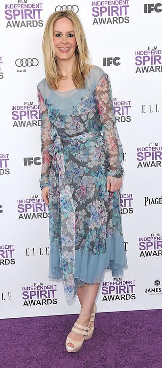Sarah Paulson at the 2012 Film Independent Spirit Awards held at Santa Monica Beach, CA.. February 25, 2012