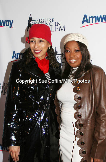 Tamara Tunie (gala co-chair) introduced the honorees Tai Babilonia and Michelle Paige Patterson at the 2009 Skating with the Stars - a benefit gala for Figure Skating in Harlem on April 6, 2009 at Wollman Rink, Central Park, NYC, NY. (Photo by  Sue Coflin/Max Photos)