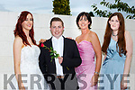 Sinead O'Sullivan, Thomas O'Callaghan, Liz Galway and Laura Walsh modeling some wedding styles at the St Vincent de Paul shop fashion show in the shop on Thursday evening