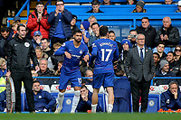 Ruben Loftus-Cheek of Chelsea replaces Mateo Kovacic  in the second half during Chelsea vs Fulham, Premier League Football at Stamford Bridge on 2nd December 2018