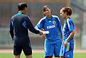(L to R)  Sasaki Norio Head Coach, Rumi Utsugi, Karina Maruyama (JPN), September 6, 2011 - Football / Soccer : Women's Asian Football Qualifiers Final Round for London Olympic, Japan National Team Training at Jinan Olympic Sports Center Training Ground, Jinan, China. (Photo by Daiju Kitamura/AFLO SPORT) [1045]