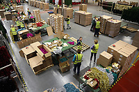Pictured: A general view of the factory floor. Thursday 16 November 2017<br /> Re: Festive company which manufactures tinsel in Cwmbran, Wales, UK.