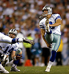 8 October 2007: Dallas Cowboys kicker Nick Folk scores a 37 yard field goal in the fourth quarter against the Buffalo Bills at Ralph Wilson Stadium in Buffalo, New York. The Cowboys rallied to defeat the Bills 25-24, thus winning their fifth consecutive game of the season...Mandatory Photo Credit: Ed Wolfstein Photo