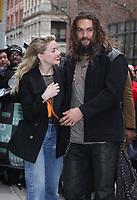 NEW YORK, NY - DECEMBER 3: Amber Heard, Jason Momoa at Build Series promoting Aquaman in New York City on December 3, 2018.   <br /> CAP/MPI/RW<br /> &copy;RW/MPI/Capital Pictures