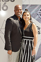 LOS ANGELES, CA - JUNE 26: Chris Spencer, Vanessa Rodriguez at the 2016 BET Awards at the Microsoft Theater on June 26, 2016 in Los Angeles, California. Credit: Koi Sojer/MediaPunch