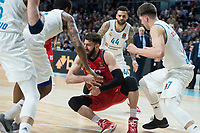 Real Madrid Trey Thompkins, Jeffery Taylor and Luka Doncic and Baskonia Vitoria Tornike Shengelia during Turkish Airlines Euroleague match between Real Madrid and Baskonia Vitoria at Wizink Center in Madrid, Spain. January 17, 2018. (ALTERPHOTOS/Borja B.Hojas) (NortePhoto.com NORTEPHOTOMEXICO)