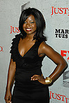 ERICA TAZEL. Arrivals to the premiere screening of the FX original drama series, Justified, at the Directors Guild of America. Los Angeles, CA, USA. March 8, 2010.
