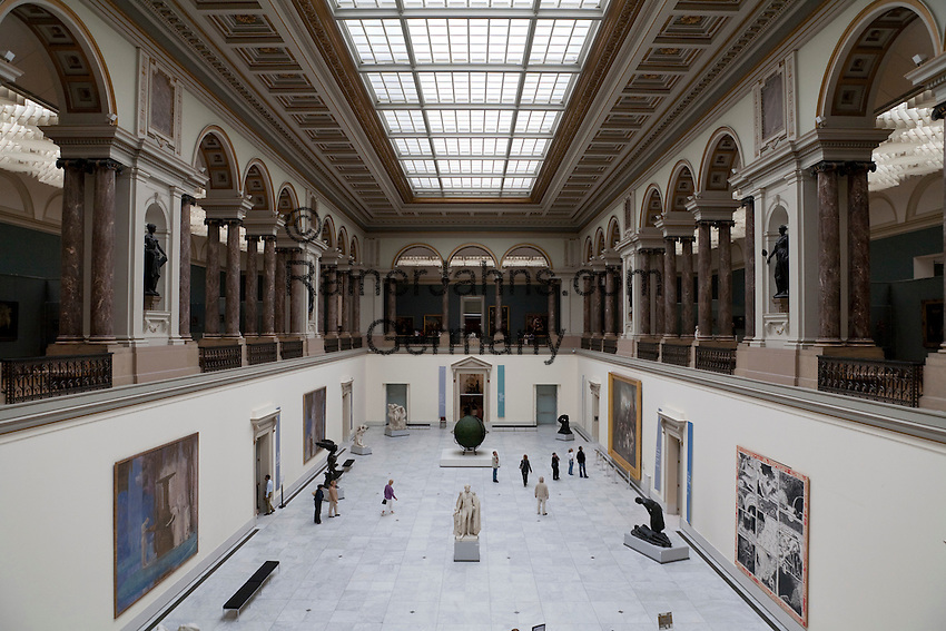 Belgium, Province Brabant, Brussels: Royal Museums of Fine Art of Belgium. View over lobby of Museum of Ancient Art