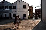 Venezia - Il Lido. Malamocco lo storico borgo. Nella foto Piazza Maggiore.