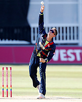 Joe Denly bowls for Kent during the Vitality Blast T20 game between Kent Spitfires and Gloucestershire at the St Lawrence Ground, Canterbury, on Sun Aug 5, 2018