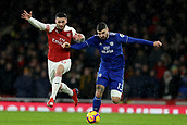 29th January 2019, Emirates Stadium, London, England; EPL Premier League Football, Arsenal versus Cardiff City; Sead Kolasinac of Arsenal competes for the ball with Callum Paterson of Cardiff City
