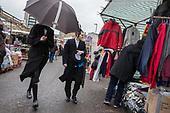 Orthodox Hassidic, Jews, Ridley Road market, Dalston, Hackney.