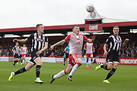 Jason Cowley of Stevenage and Luke Hendrie of Grimsby Town during Stevenage vs Grimsby Town, Sky Bet EFL League 2 Football at the Lamex Stadium on 12th October 2019